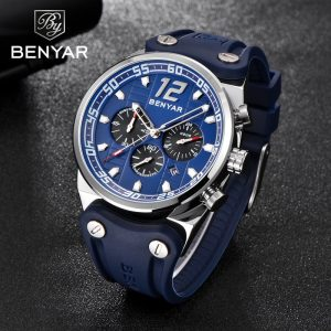 2019 New BENYAR Men's Watches Sports / Military/Quartz/Watch Man Clock Top Brand Luxury Male Watch Chronograph Relogio Masculino
