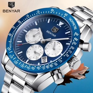 2019 New Men's Watches BENYAR Top Brand Luxury Quartz Watches Business Watch Man Clock Chronograph Waterproof Relogio Masculino