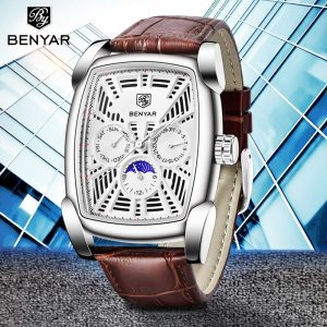 2019 Watches Men Top Brand Luxury BENYAR Hollow Fashion Sports Watch Moon Phase Male Watches Military Wristwatches Zegarek Meski