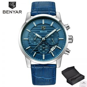 2020 BENYAR Casual Fashion Chronograph Sport Men's Watches Top Brand Luxury Military Quartz Wrist Watch Clock Relogio Masculino