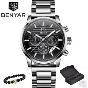 2020 BENYAR Top Brand Luxury Men's Watches Casual Fashion Chronograph Sports Military Quartz Wrist Watch Clock Relogio Masculino
