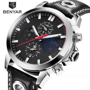 2020 BENYAR new luxury sports mens watch fashion top brand male watch military waterproof leather quartz watch Relogio Masculino