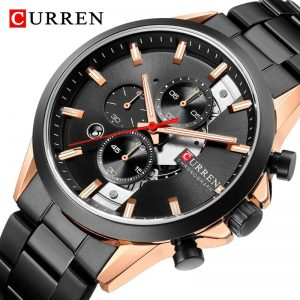 2020 CURREN Mens Watches Top Brand Luxury Military Sport Watch For Men Full Steel Chronograph Waterproof Men's Quartz Wristwatch