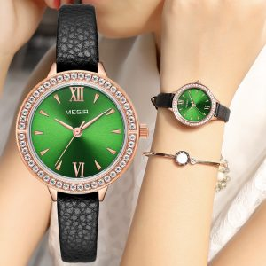 2020 MEGIR Ladies Luxury Brand Watch Leather Simple Quartz Women Waterproof Wristwatch Lady Fashion Casual Watches Female Clock