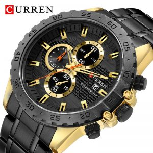 2020 New CURREN Luxury Chronograph Men Watch Stainless Steel Business Watches Waterproof Mens Sports Quartz Wrist Watch Clock