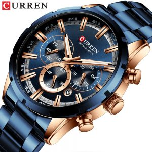 2020 New CURREN Top Brand Mens Watches Luxury Chronograph Sport Waterproof Quartz Watch Men Full Steel Business Clock Wristwatch