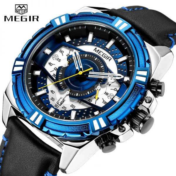 2020 New Mens Watches MEGIR Military Analog Watch Men Fashion Sport Chronograph Quartz Male Clock Relogio Masculino Waterproof