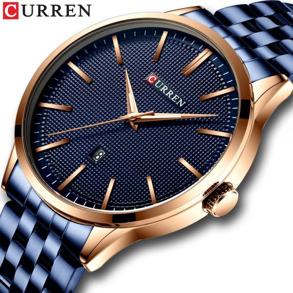 2020 Watch Men CURREN Top Brand Luxury Full Steel Business Quartz Wristwatch Casual Waterproof Sport Watches Relogio Masculino