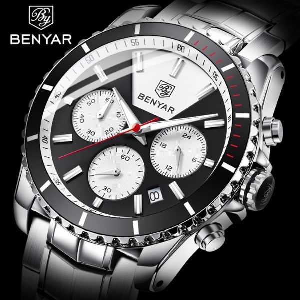 BENYAR 2019 New Men's Watches Fashion Mens Watches Top Brand Luxury Chronograph/Quartz/Wrist Watch Men Clock Relogio Masculino