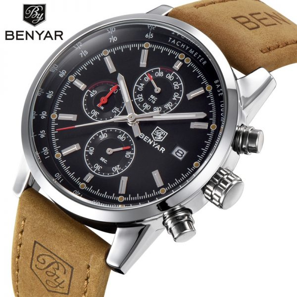 BENYAR 2020 Business Men Watches Brand Luxury Military Chronograph Waterproof Quartz Watch Clock Relogio Masculino Dropshipping