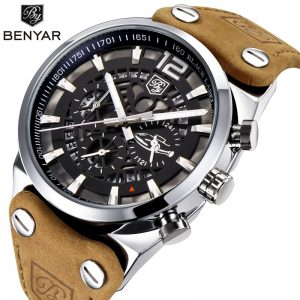BENYAR 2020 New Sport Mens Watches Military Chronograph Quartz Man Outdoor Big Dial WristWatch Army Male Clock Relogio Masculino