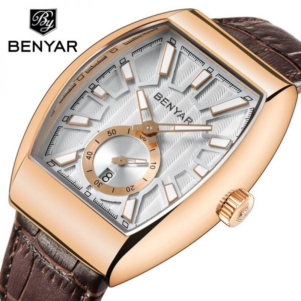 BENYAR 2020 New Sports Watch Men's Watch Top Luxury Brand Waterproof 30M Quartz Leather Army Men's Watch Clock Relogio Masculino
