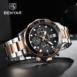 BENYAR Men Watches 2020 Luxury Sport Watches For Men Quartz Wristwatch Top Brand Waterproof Chronograph Watch relogio masculino