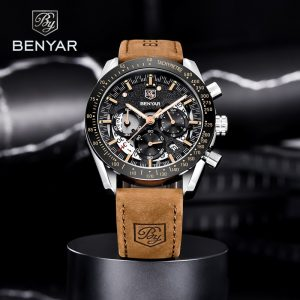 BENYAR Men's Quartz Wrist Watch Top Brand Luxury Mens Watches Waterproof Chronograph Sports Watch For Men relogio masculino 2020