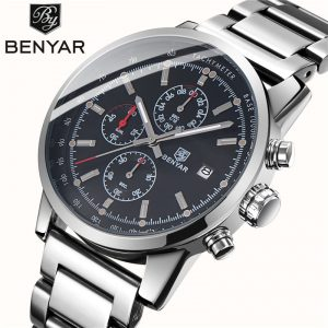 BENYAR Men's Watch /Sport/Fashion/Quartz/Steel Watch Men Wristwatch Top Brand Luxury Watch Men Relogio Masculino Dropshipping