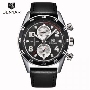 BENYAR Men's Watches 2019 New Top Luxury Brand Men Quartz Wristwatches Chronograph Business Watch Men Clock Relogio Masculino