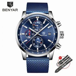 BENYAR Men's Watches 2019 Top Brand Watch Men Luxury Wristwatch Mens Quartz Chronograph Military Watch Clock Relogio Masculino