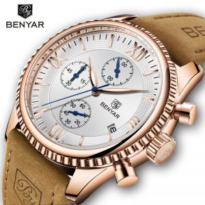 BENYAR Men's Watches Fashion Brand Top Luxury Quartz Sports Watch Military Chronograph Gold Clock Montre Homme Relogio Masculino