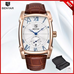 BENYAR Men's Watches Fashion Business/Waterproof/Sport Watch Men Quartz Leather Mens Watches Top Brand Luxury Clock Reloj Hombre