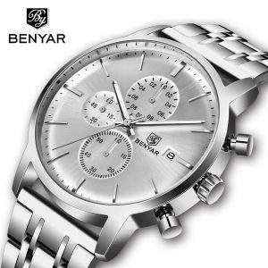 BENYAR Men's Watches Top Brand Business Watch Quartz 30M Waterproof Chronograph Sports Watch Man Watch 2019 Clock Montre Homme