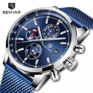 BENYAR Men's Watches Top Brand Luxury Quartz Chronograph Luminous Pointer Waterproof Watches Fashion Watch Relogio Masculino