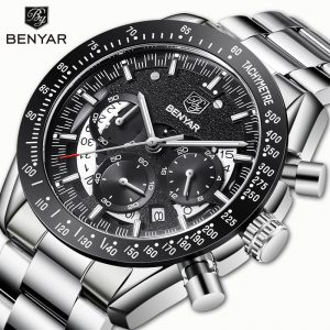 BENYAR Men's Watches Wristwatches Men Watch Quartz Chronograph Top Brand Luxury Watch Business Male watches Clock Reloj Hombre