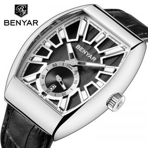 BENYAR NEW Luxury Brand Quartz Mens Watches Brand Men Military Leather Male Sports Watch Hour Date Waterproof Relogio Masculino