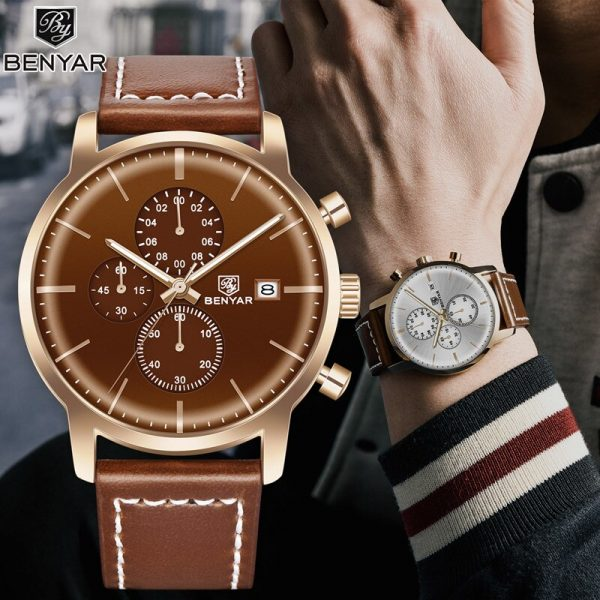 BENYAR New Men's Watches Military Sports Mens Watches Business/Fashion/Chronograph Top Brand Luxury Wristwatch mens Reloj Hombre