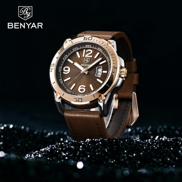 BENYAR Quartz Watches Mens New Top Brand Luxury Luminous Fashion Watch Men Waterproof Military WristWatch Mens Relogio Masculino