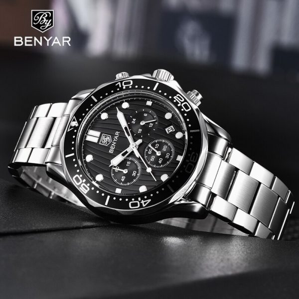 BENYAR Top Brand Luxury Watch Men Sport Watches For Men Quartz Watches Mens 2020 Business Military Chronograph relogio masculino