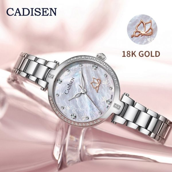 CADISEN 18K Gold Watch For Women MIYOTA Quartz Women Watches Top Brand Luxury Famous Fashion Ladies Watch Gift Clock Reloj Mujer