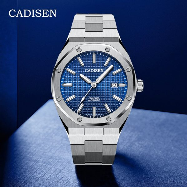 CADISEN Design Fashion Mens Watches Top Brand Luxury Sport Mechanical Automatic Watch Men NH35 Wristwatch Mens Relogio Masculino