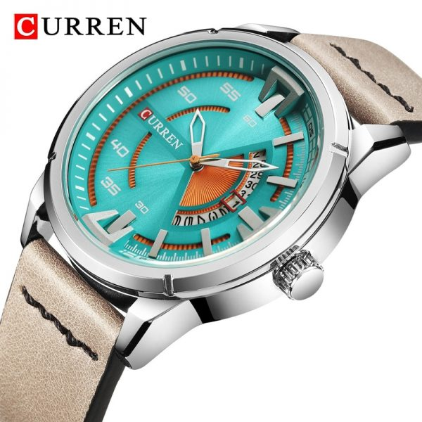 CURREN 2020 New Mens Watches Sport Waterproof Military Watch Men Fashion Quartz Wrist Watch Leather Clock Male Relogio Masculino