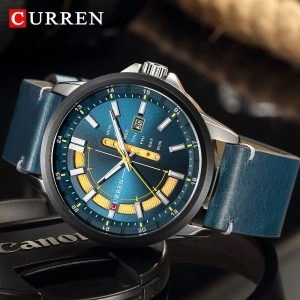 CURREN Army Sports Men Watch Army Military Mens Wristwatch Leather Chronograph Waterproof Men's Quartz Watch Relogio Masculino