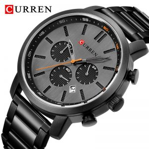 CURREN Fashion Men's Quartz Analog Watch Men Casual Sport Watches Chronograph Stainless Steel Band Male Clock Relogio Masculino