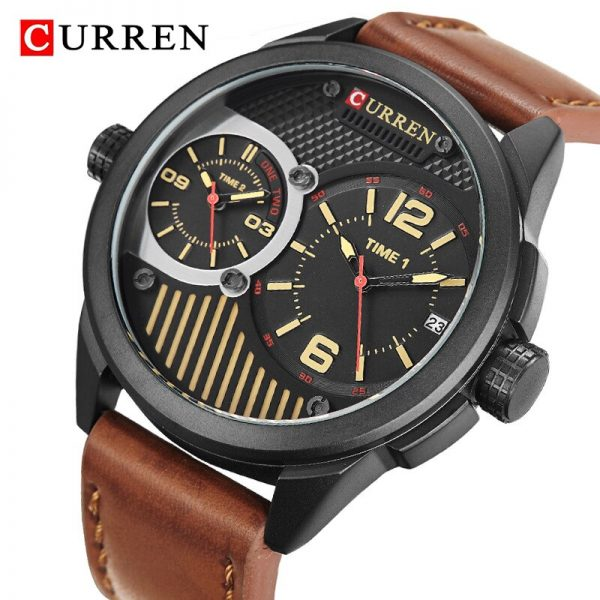 CURREN Fashion Military Sport Mens Watches Top Brand Luxury Men's Quartz Watch Men Casual Waterproof Clock Male erkek kol saati