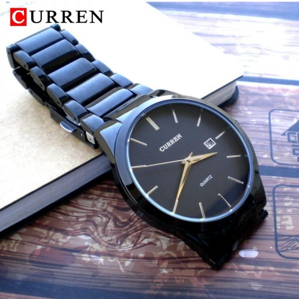 CURREN Fashion Simple Men Watch Slim Steel Strap Waterproof Watch For Men Quartz Business Watch Clock 8106 Relogio Masculino