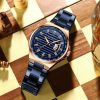 CURREN Top Luxury Brand Full Steel Watch Men Business Waterproof Quartz Blue Wristwatch Men's Analog Sport Watches Male Clock 1222