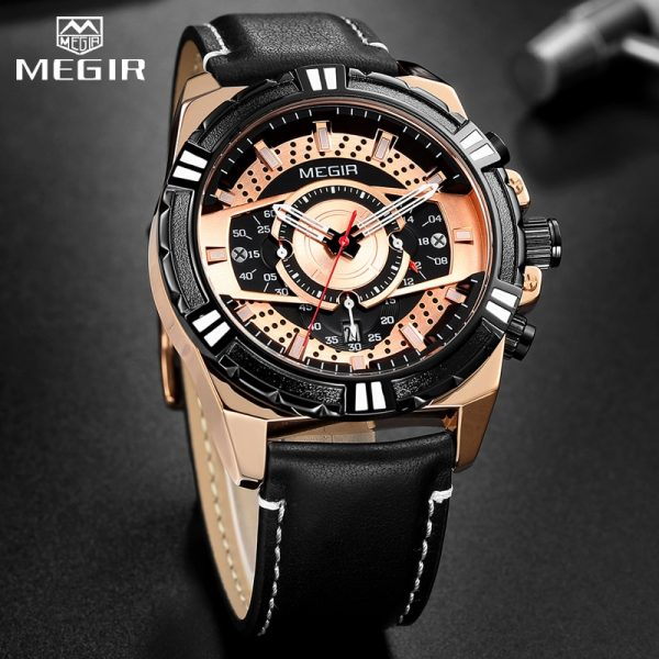 Creative MEGIR Watch Men Fashion Sports Watches Top Brand Men Waterproof Quartz Wristwatch Calendar Male Clock Relogio Masculino