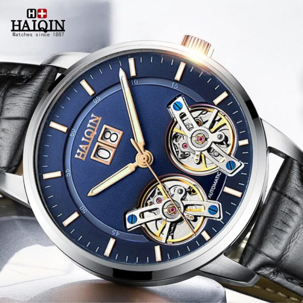 HAIQIN Mens Watches Top Luxury Brand Waterproof Sport Wrist Watch Mechanical Automatic Watch Men Military Relogio Masculino 2020