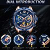 MEGIR Chronograph Sport Men Watch Waterproof Silicone Quartz Watches Men Clock Hour Army Military Wristwatches Relogio Masculino 5586