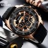 MEGIR Mens Watch Top Luxury Brand Men Analog Sport Quartz Watches Silicone Strap Waterproof Army Military Chronograph Male Clock 4226