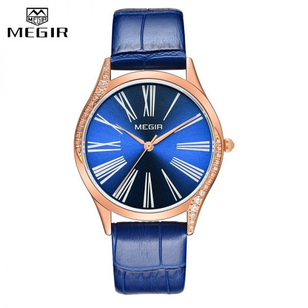 MEGIR Women Watch Top Luxury Brand Fashion Ladies Quartz Wrist Watch Casual Leather Waterproof Female Clock Relogio Feminino