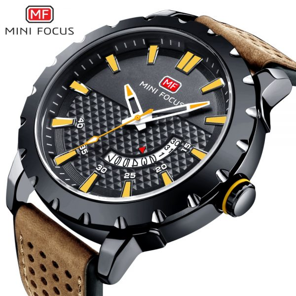 MINIFOCUS Brand Luxury Quartz Men Watch Man Fashion Casual Military Armyt Clock Waterproof Watches Date Display Relojes Hombre