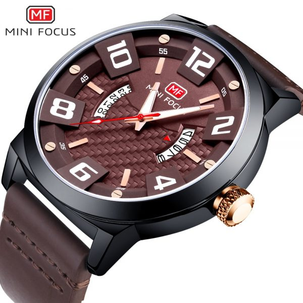 MINIFOCUS Luxury Brand Men Military Army Quartz Watch Men's Analog 3D Dial Clock Waterproof Wristwatches Relogio Masculino