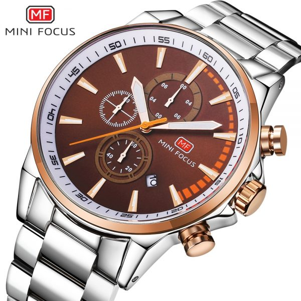 MINIFOCUS Men Sports Fashion Top Luxury Brand Quartz Male Watch With Multifunctional Stainless Steel Waterproof Men's Watches