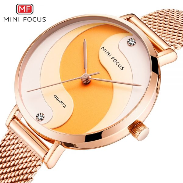 MINIFOCUS Woman Watches 2020 Top Brand Luxury Women Watch Rose gold Quartz Female WristWatch Ladies Clock Girl Relogio Feminino