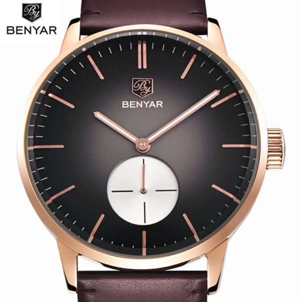 Mens Watches Top Brand Luxury Sports Watches Men Benyar Fashion Clock Dress Men's Quartz Watch Male Hours 2017 Erkek Kol Saati