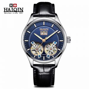 New HAIQIN Men's Watches Mechanical Automatic Watch Men Business Sport 30M Waterproof Tourbillon Watches Relogio Masculino 2020