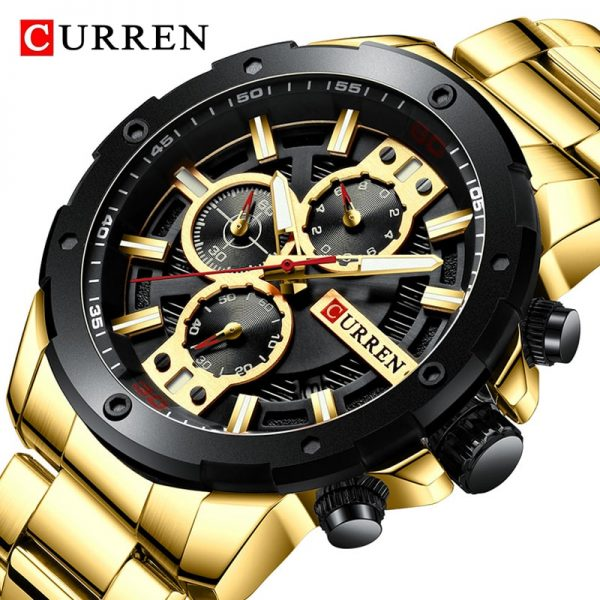 Newest CURREN Men Watch 2020 Military Waterproof Sport Mens Watches Top Brand Stainless Steel Chronograph Clock Men's WristWatch